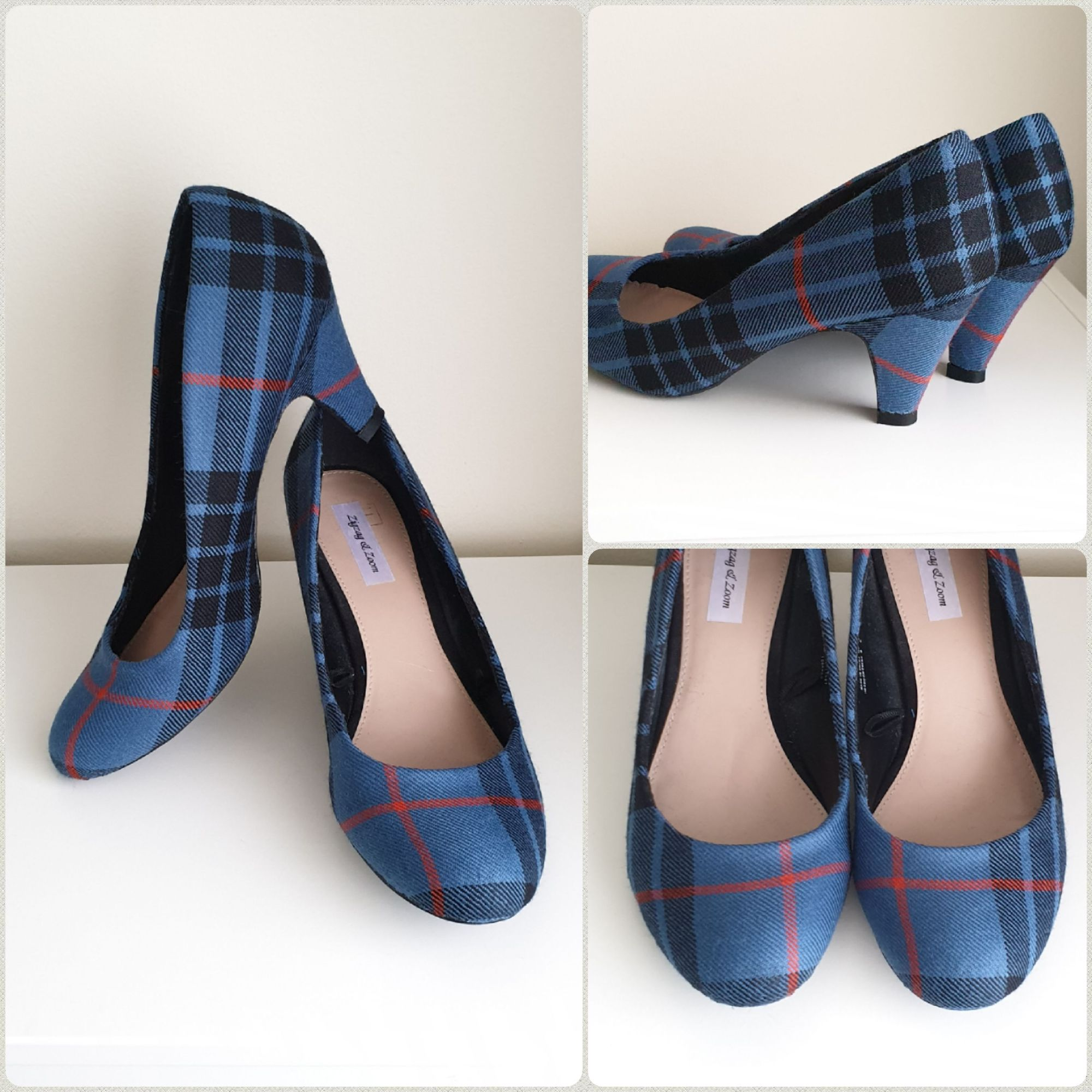 Ancient Angus tartan shoes