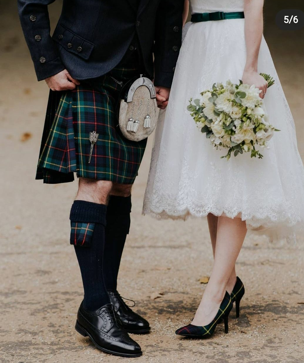 Stunning custom tartan wedding shoes, bespoke designed wedding heels