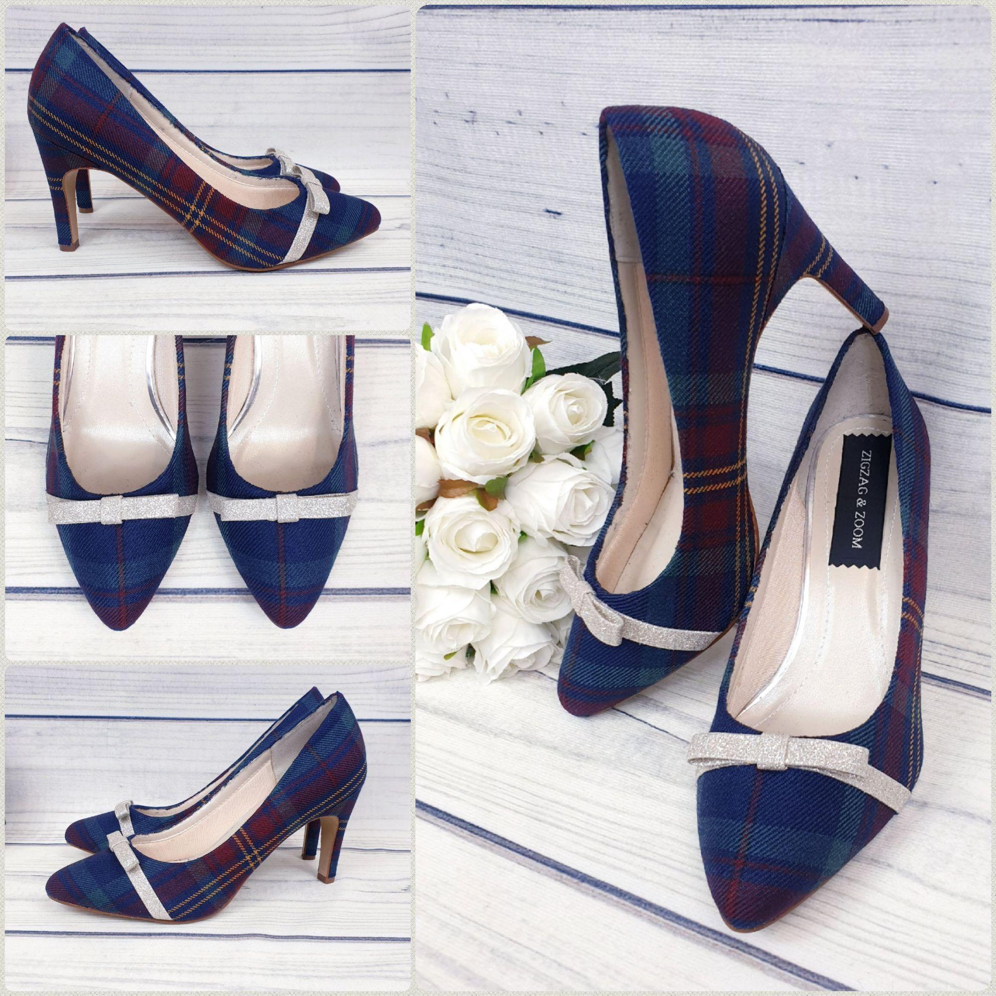 Stunning tartan shoes, bespoke wedding shoes