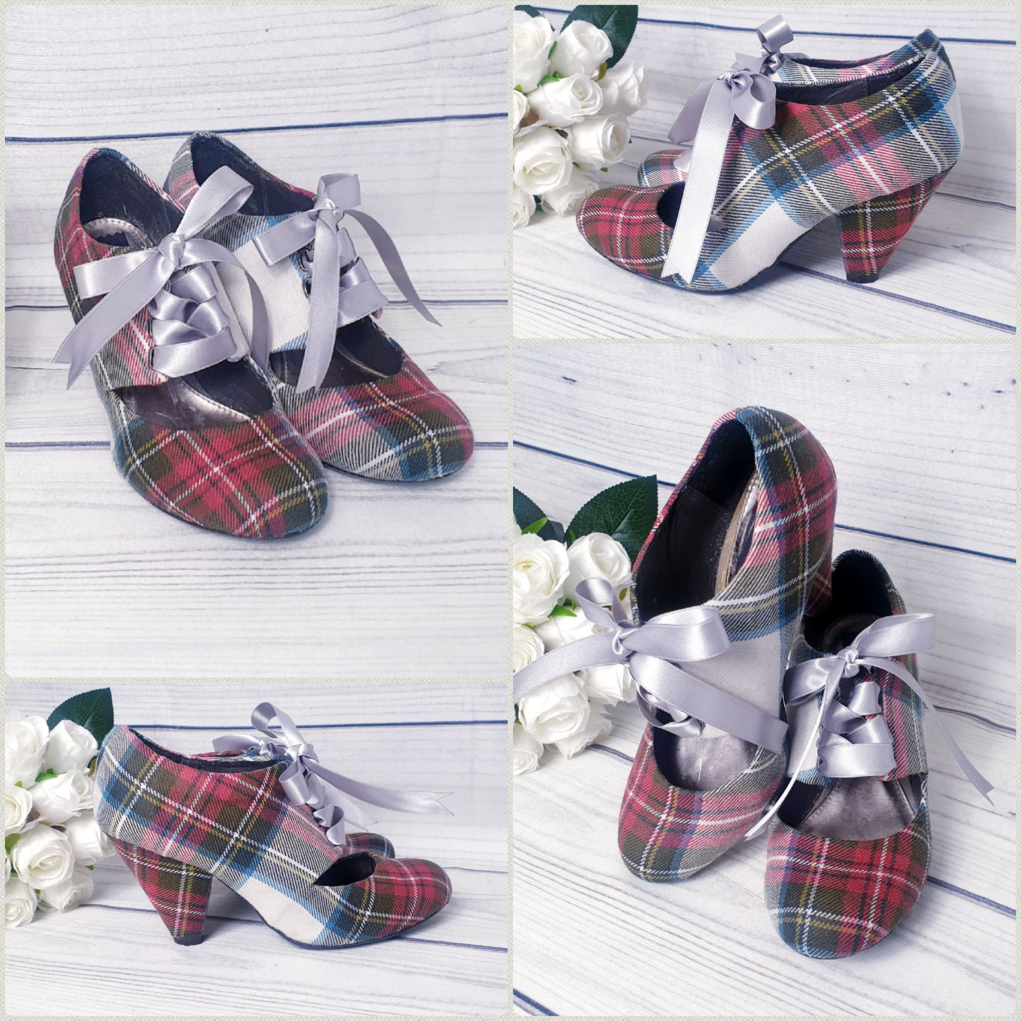 Weathered Dress Stewart Tartan shoes