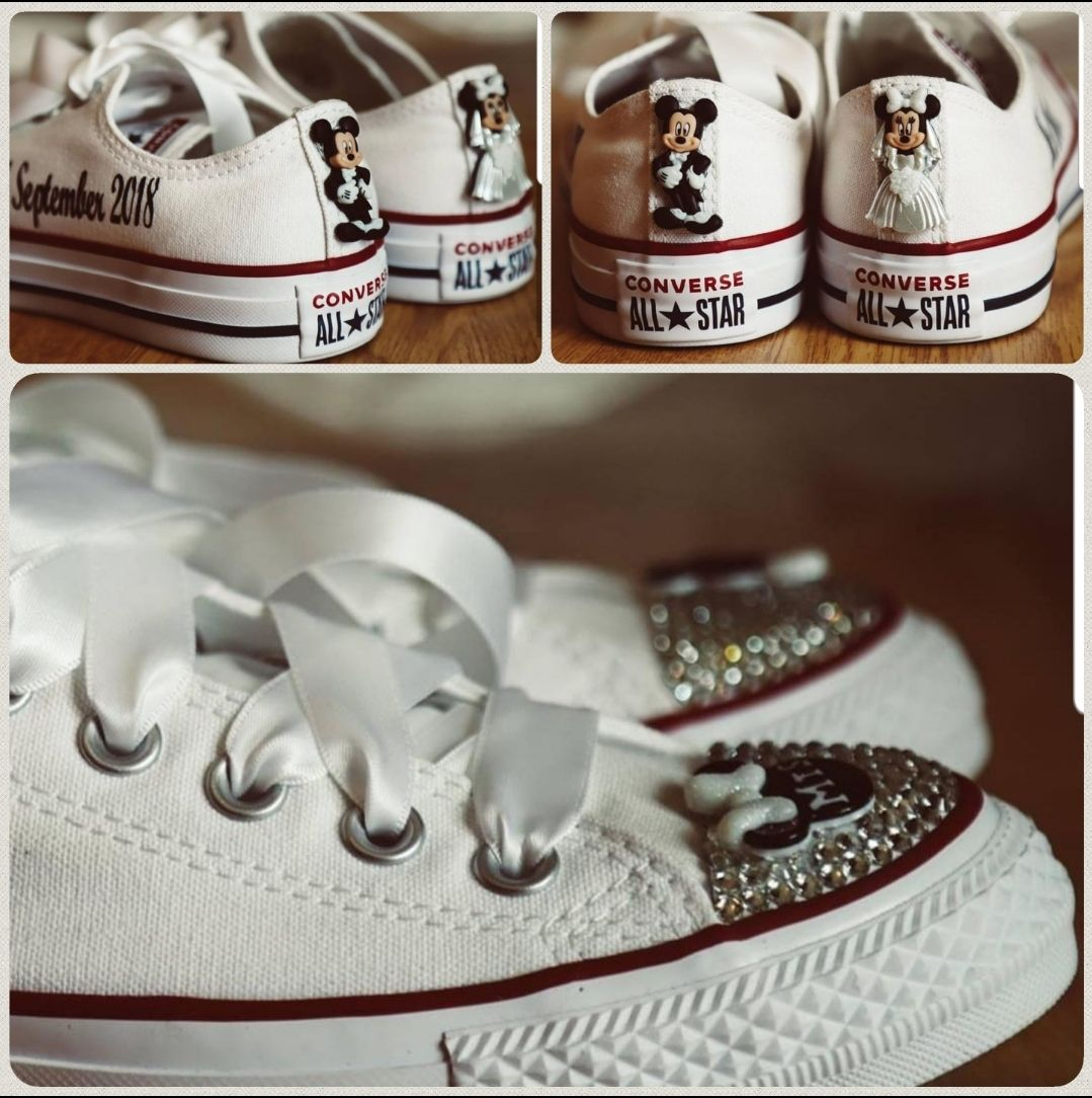 Disney Personalised Converse Wedding pumps, customised
