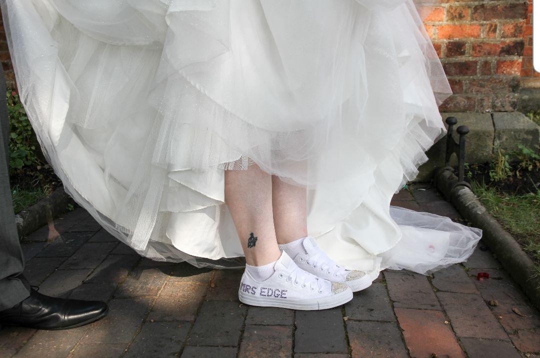 Crystal custom wedding converse