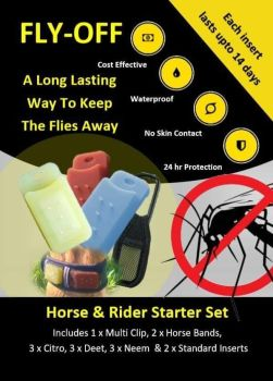 Australia 5 packs of FLY-OFF Horse & Rider Sets and 5 Bumper Refill packs plus postage