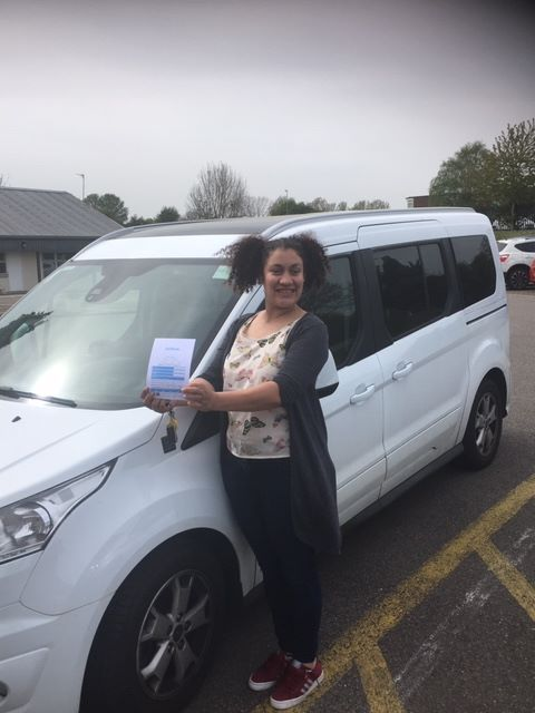 Jemma is a happy girl having passed her accessible MPV Course.