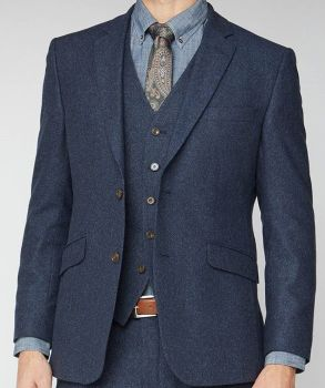 Scott by The Label Navy Donegal Jacket