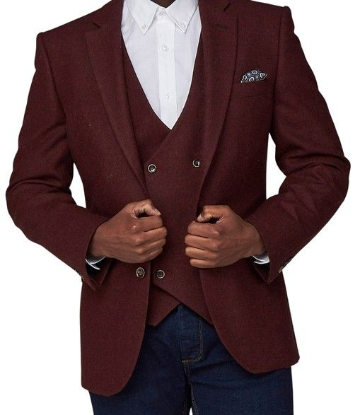 Scott by the Label burgundy 100% wool jacket