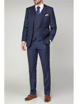 Scott by The Label Ink Blue Contemporary Fit Suit Jacket (matching  waistcoat and trousers also available) Not available to buy online - please contac