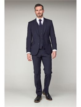 Scott by The Label  Navy Contemporary Fit Suit Jacket (matching  waistcoat and trousers also available) Not available to buy online - please contact u