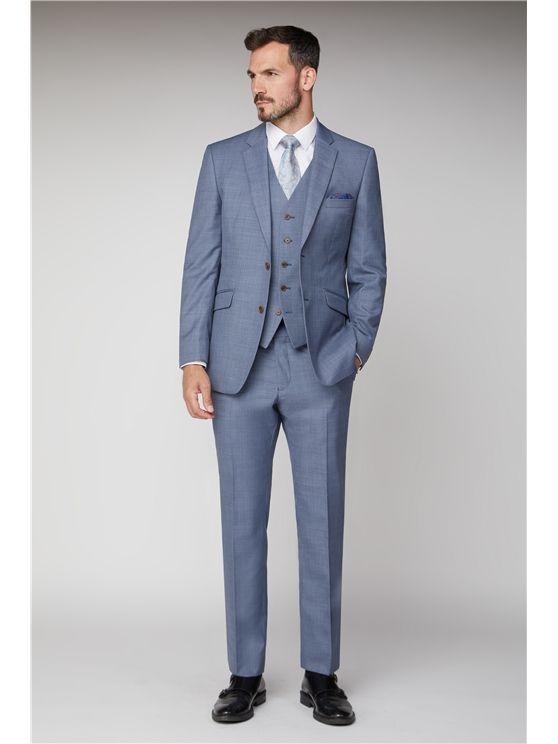 Scott by The Label  Light blue sharkskin  Contemporary Fit Suit Jacket (mat
