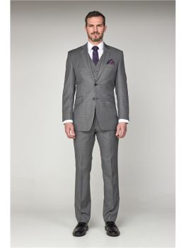 Scott by The Label Grey Pick n' Pick Contemporary Fit Suit Jacket (matching  waistcoat and trousers also available) Not available to buy online - plea
