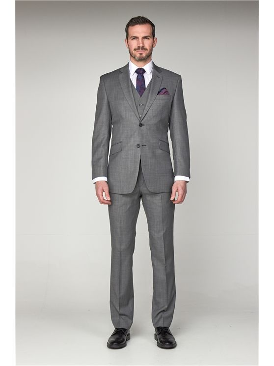 Scott by The Label Grey Pick n' Pick Contemporary Fit Suit Jacket (matching