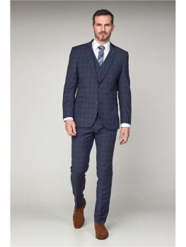 Scott by The Label Airforce Check Contemporary Fit Suit Jacket (matching  waistcoat and trousers also available) Not available to buy online - please