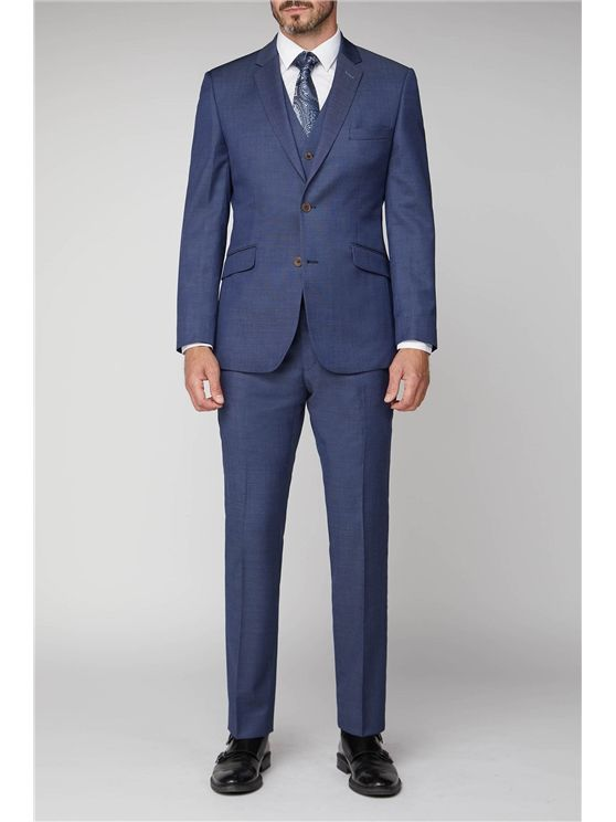 Scott by The Label Navy Pindot Contemporary Fit Suit Jacket (matching  wais