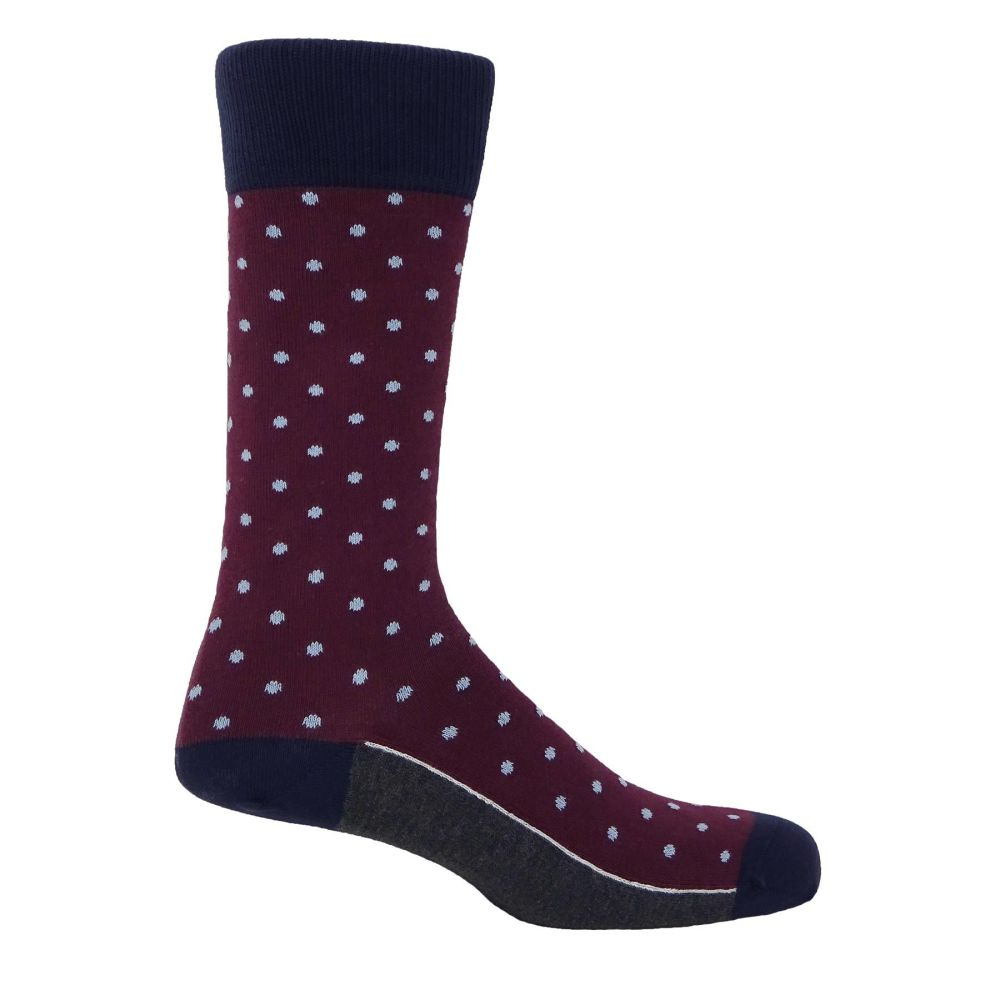 Pin Polka Dot Burgundy