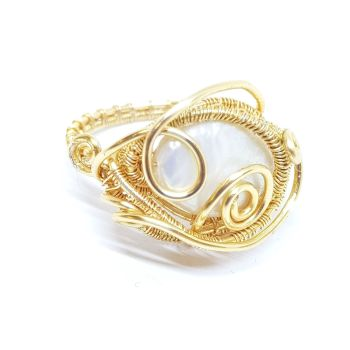 Pearl Weave Gold Ring