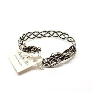Black/Silver Celtic Bracelet