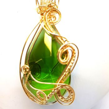Large Crystal Green Pendant