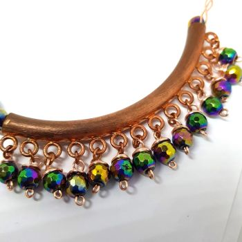 Copper and Abaloni Gemstone Neckpiece