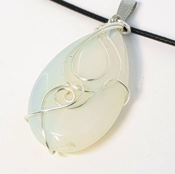 Opal with Silver Pendant