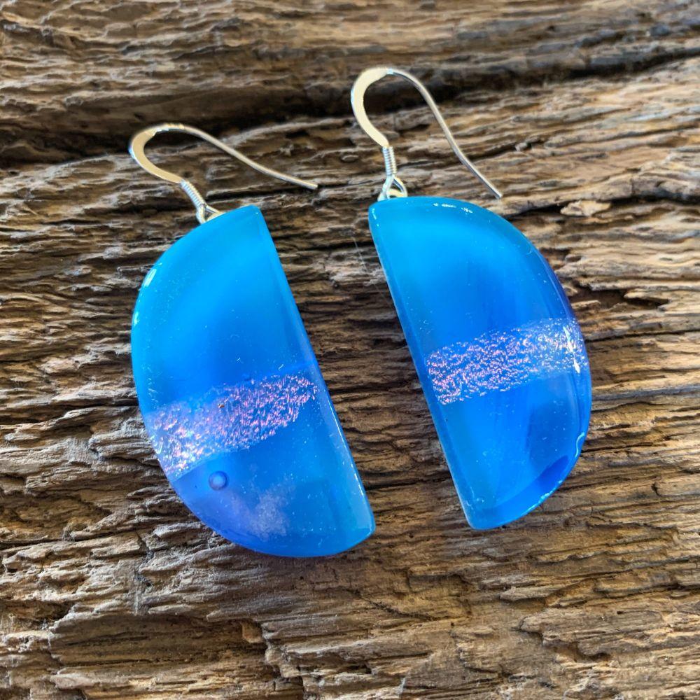 Turquoise Moon Earrings