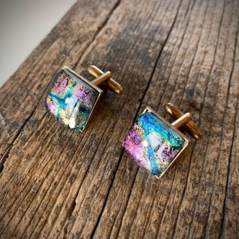 "Boutons de manchettes""Or marin""  - 'Deep Sea Gold'  Cufflinks"