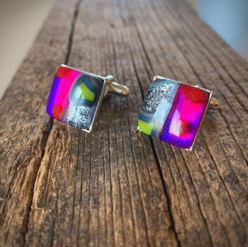 Boutons de manchettes - 'Klimt' Cufflinks