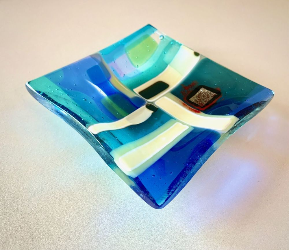 'Marine Layers' Coastal Quarters, Glass Plate