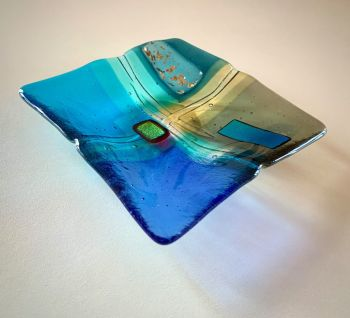 ' Afternoon Elements ' 15x15cm Glass Plate