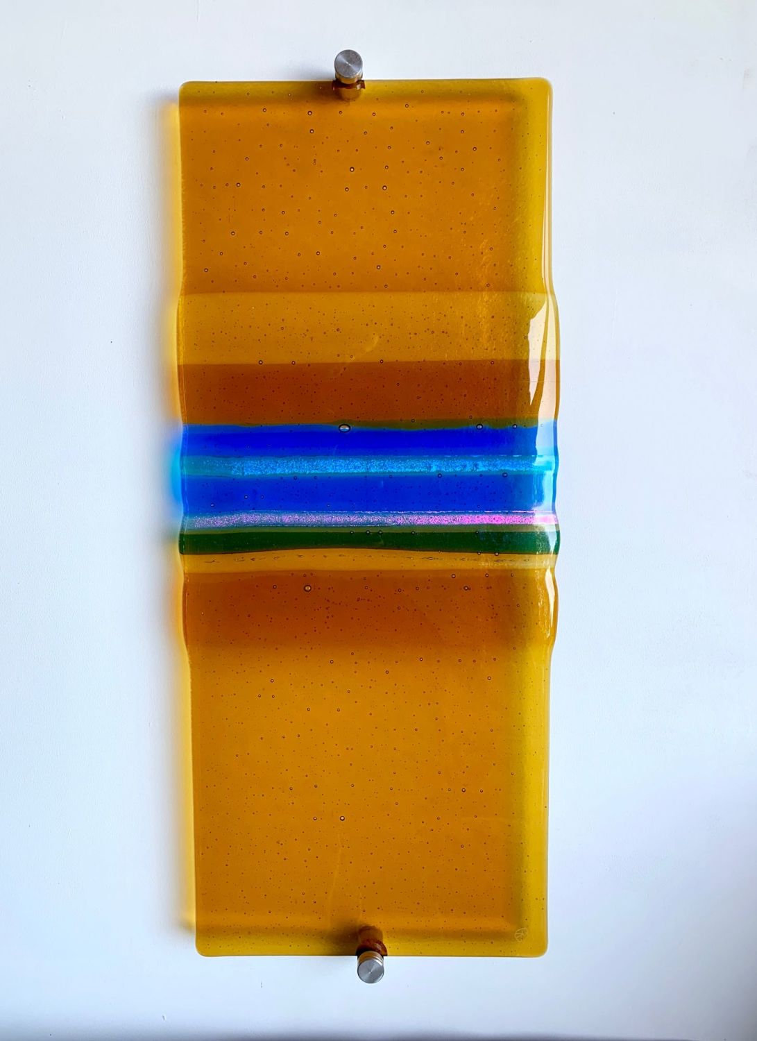 'Amber Sands'  Kiln-formed Glass Wall Panel