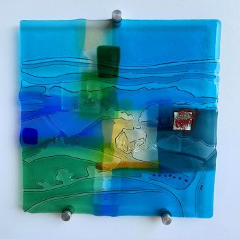 'Home' Kiln-formed Glass Panel