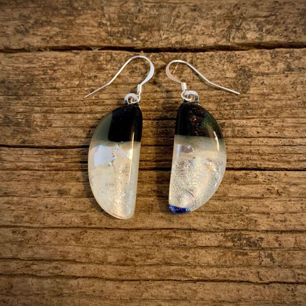 'Pearl Moon' earrings ,