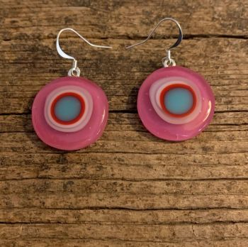 "'Pink Circle' earrings, ""Cercle Rose"" Boucles d'oreilles"