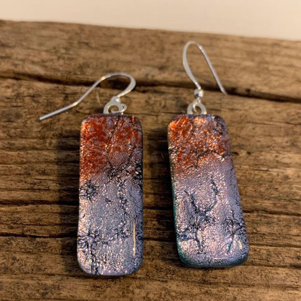 'Lavender Shimmer' earrings -