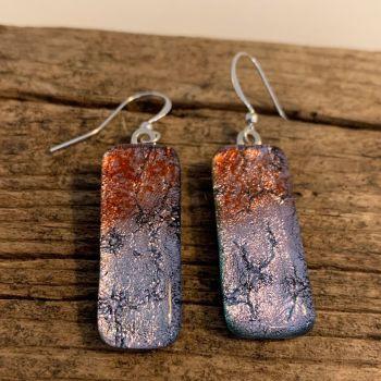 """'Lavender Shimmer' earrings - """"Lune Lavande"""" boucles d'oreilles"""