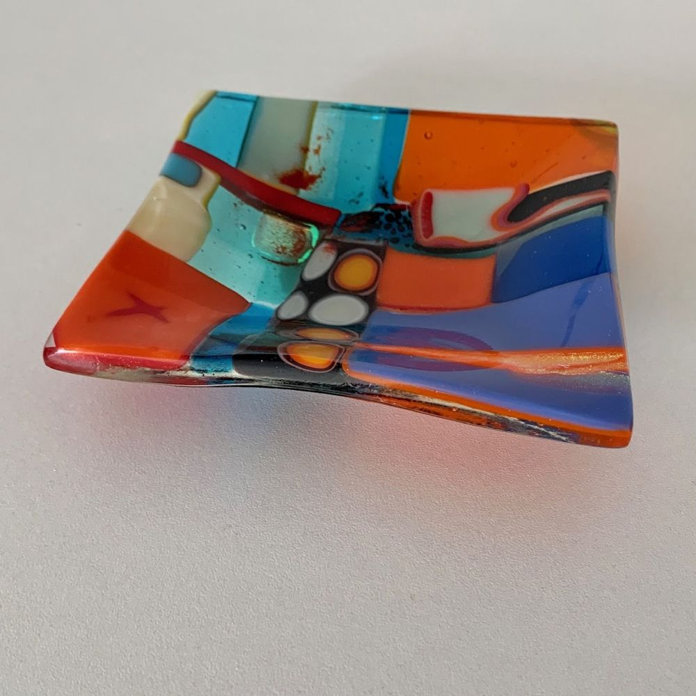 Patchwork series Kiln-formed glass plate