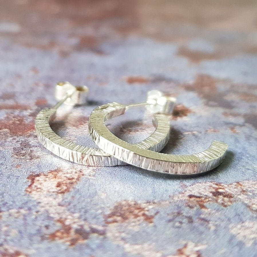 Birch Hoop Earrings