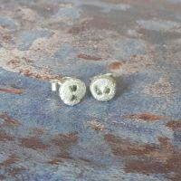 Lunar stud earrings