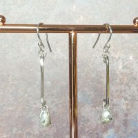 Lunar drop earrings