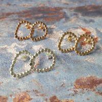Pebble Pear stud earrings