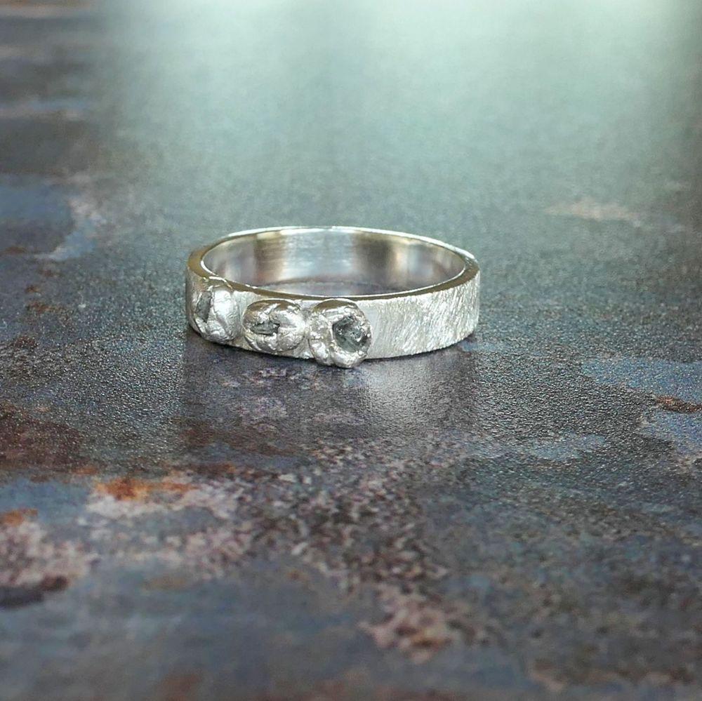 Lunar Diamond studded ring