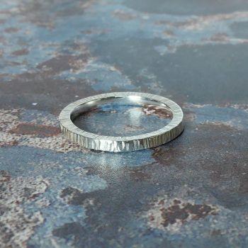 Birch Argentium Silver Ring