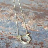 Birch Horseshoe necklace