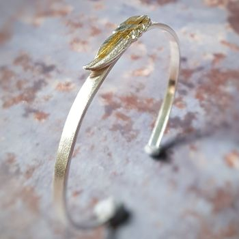 Pluma Feather Cuff: Sterling Silver