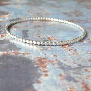 Pebble Sterling Silver Bangle