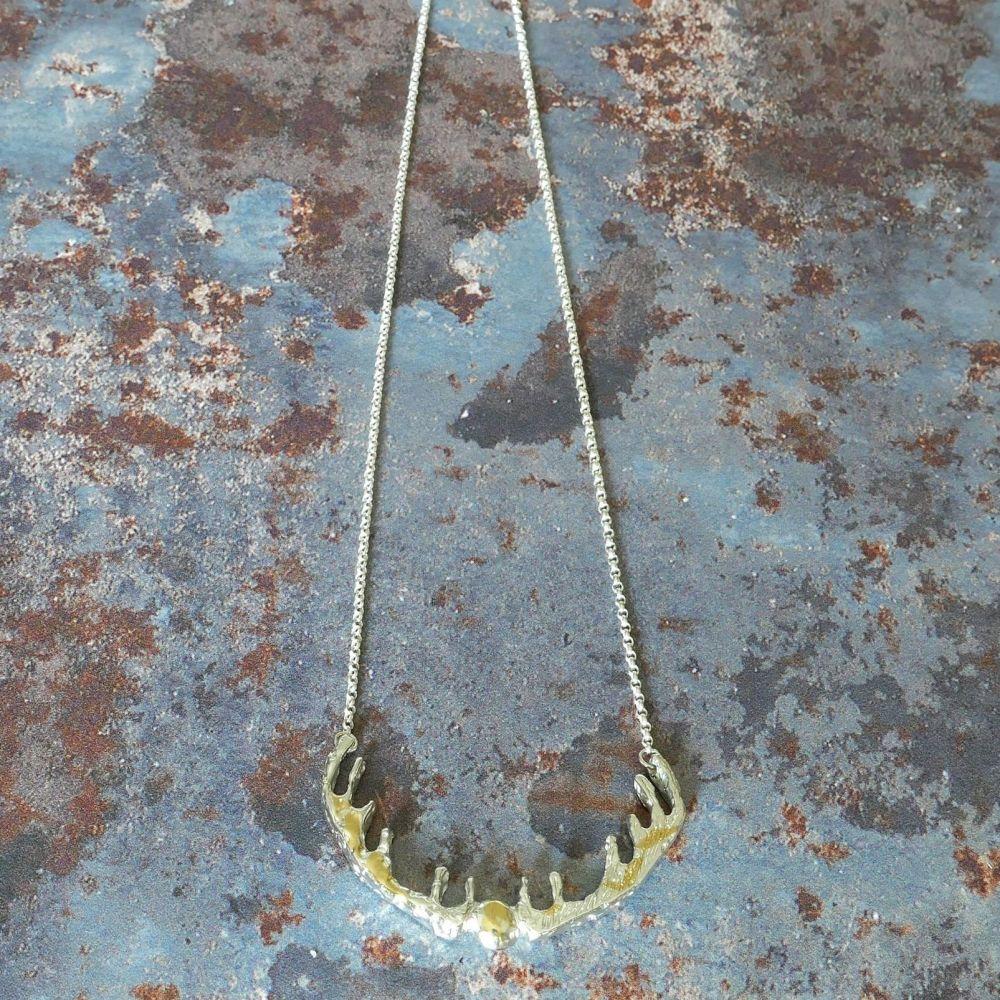 Moorland reversible Antlers necklace