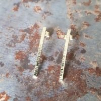 Birch vertical stud earrings