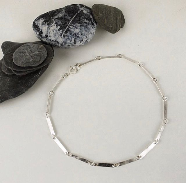 Recycled silver link Necklace