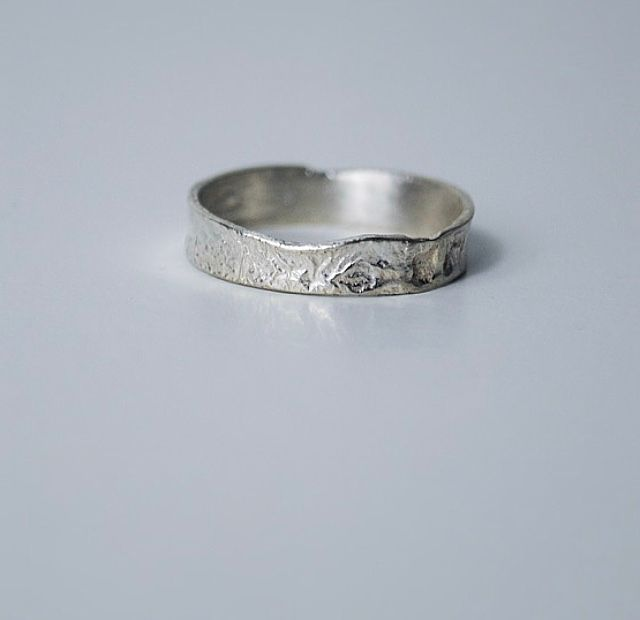 ecosilver-recycled silver-reticulated-handcrafted-ring