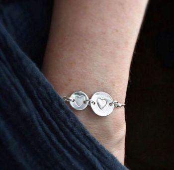 Elskede Adjustable Heart Bracelet