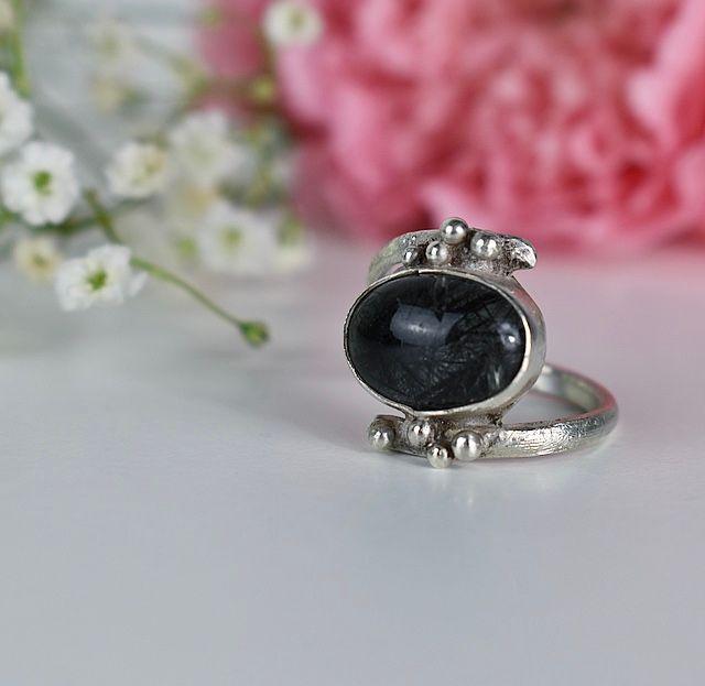 black tourmalinated quartz ring 2